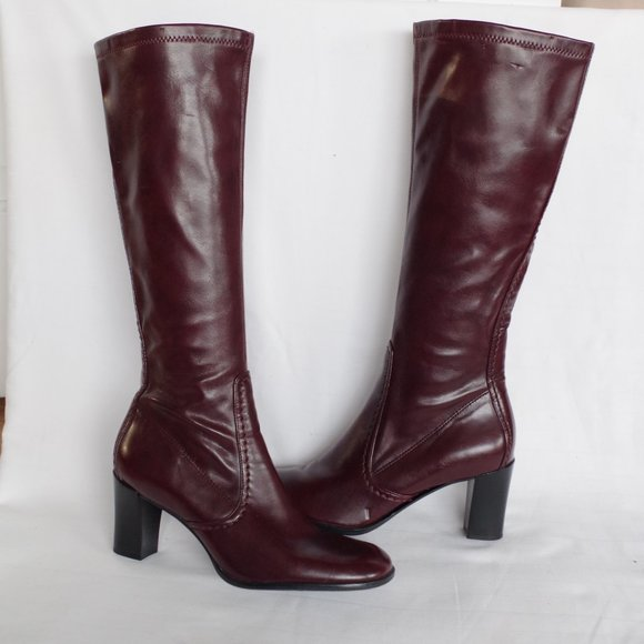 Franco Sarto Oxblood Zippered Dress boot- Sz. 6